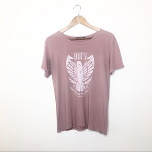 Obey Keepers of the Peace S Graphic Shirt Dove Tee